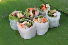 Vietnamese spring rolls royalty free stock image