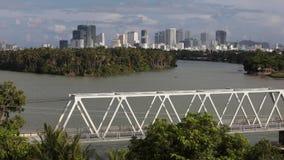 Vietnamese stad van Nha Trang stock video