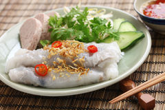 Vietnamese steamed rice noodle roll Royalty Free Stock Photo