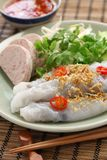 Vietnamese steamed rice noodle roll Royalty Free Stock Photos