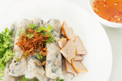 Vietnamese steamed rice noodle rolls Stock Photography