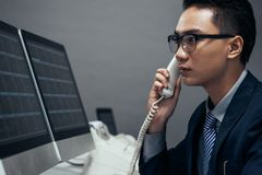 Vietnamese stock trader Stock Photos