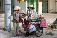 Vietnamese straatventer Stock Afbeeldingen