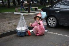 Vietnamese Straatventer in Ho Chi Minh Royalty-vrije Stock Afbeelding