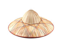 Vietnamese straw hat. Isolated on a white background Stock Image