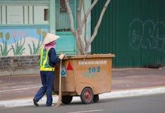 Vietnamese street cleaner Stock Image
