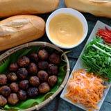 Vietnamese street food, banh mi thit nuong Royalty Free Stock Photo