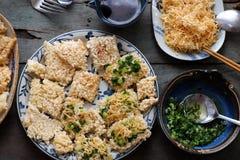 Vietnamese street food, com chay cha bong Royalty Free Stock Photo