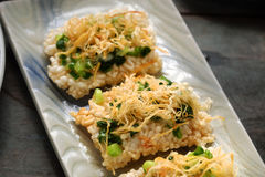 Vietnamese street food, com chay cha bong Stock Photos