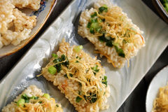Vietnamese street food, com chay cha bong Royalty Free Stock Images