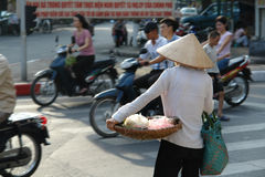 Vietnamese Street Life. In the capital of Vietnam, Hanoi Royalty Free Stock Image
