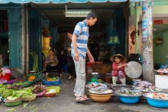 Vietnamese street market Stock Photo