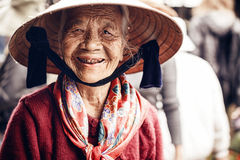 Vietnamese street vendor in Hue, Vietnam Royalty Free Stock Image
