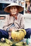 Vietnamese street vendor in Hue, Vietnam Royalty Free Stock Photography