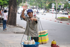 Vietnamese street vendor Selling Drinks Stock Images
