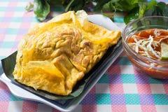 Vietnamese stuffed crispy omelette for meal Royalty Free Stock Photo