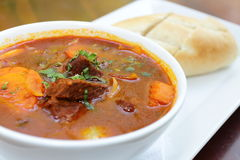 Vietnamese-Style Beef Stew Bo Kho, with bread Stock Photo