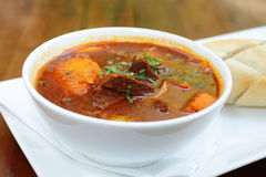 Vietnamese-Style Beef Stew Bo Kho, with bread Stock Images