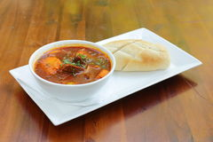 Vietnamese-Style Beef Stew Bo Kho, with bread Royalty Free Stock Image