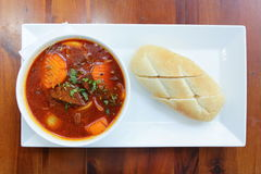 Vietnamese-Style Beef Stew Bo Kho, with bread Royalty Free Stock Photos