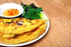 Vietnamese style pancake Stock Photo