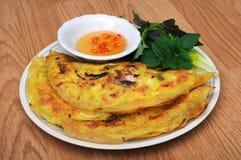 Vietnamese style pancake Royalty Free Stock Photos