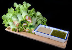 Free Vietnamese Style Salad Roll. Stock Photography - 96406302