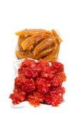 Vietnamese sweetened kumquat and mangoes Royalty Free Stock Images