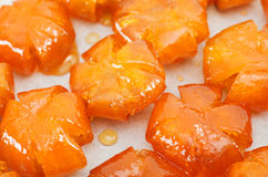 Vietnamese sweetened kumquats close-up Stock Photos