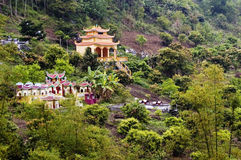 Vietnamese Temple. Asian temples in the middle of green bushland on Cat Ba Island, Vietnam Stock Photography
