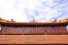 Vietnamese temple roof Stock Photo