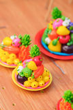 Vietnamese  to he  toy, which is made of powder and colorful dyes Stock Photos
