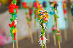Vietnamese  to he  toy, which is made of powder and colorful dyes Royalty Free Stock Photography