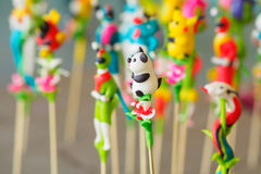 Vietnamese  to he  toy, which is made of powder and colorful dyes Stock Image