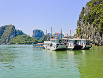 Vietnamese tourist boat Royalty Free Stock Images