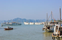 Vietnamese tourist boats Royalty Free Stock Images