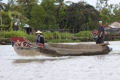 Vietnamese Traditional Boat Stock Image