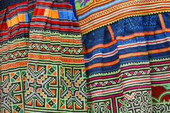 Vietnamese traditional fabrics Stock Photos