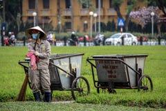 Vietnamese tuinarbeider Stock Foto