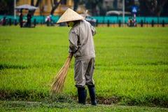 Vietnamese tuinarbeiders Royalty-vrije Stock Fotografie