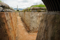 Vietnamese tunnels. Used to fight Americans Royalty Free Stock Photography