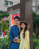 Vietnamese university students in ho chi minh city Royalty Free Stock Image