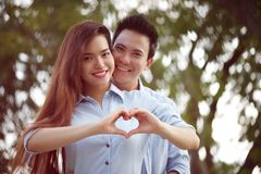 Vietnamese Valentines couple Royalty Free Stock Image