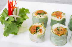 Vietnamese vegetarian spring rolls Royalty Free Stock Photography