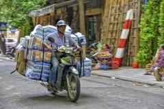 Vietnamese vendor in Hanoi Stock Photo