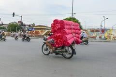 Vietnamese vendor in Hanoi royalty free stock images
