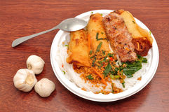 Vietnamese Vermicelli with grilled pork stock image