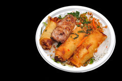 Vietnamese Vermicelli with grilled pork royalty free stock photos