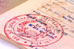 Vietnamese Visa Royalty Free Stock Images