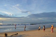 Vietnamese vissers Royalty-vrije Stock Afbeeldingen